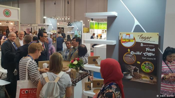 Indonesische Ausstellung auf der COTECA 2018 in Hamburg ( KBRI Berlin)