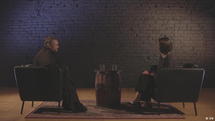 Архимандрит Кирилл во время интервью Жанне Немцовой
