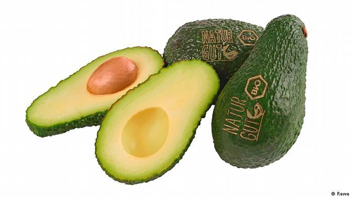 Rewe tätowierte Bio-Avocados (Rewe)