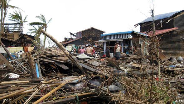 Devastation caused by Cyclone Nargis