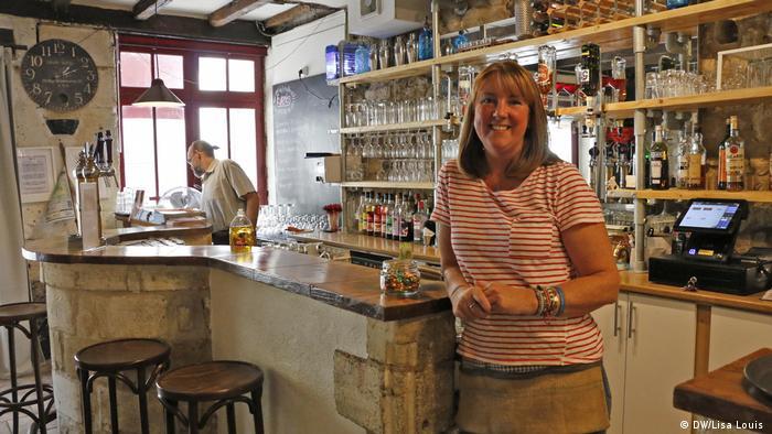 Rebecca Walters in her bar
