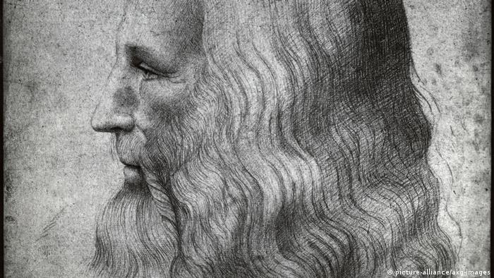 Autorretrato de Leonardo da Vinci, por volta de 1500