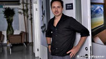 Lorenz Wagener im Büro seiner Firma Rimagine (Foto: Lorenz Wagener)