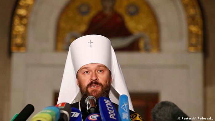 Weißrussland PK Vorsitzender für Außenbeziehungen des Moskauer Patriarchats, Metropolit Hilarion (Reuters/V. Fedosenko)