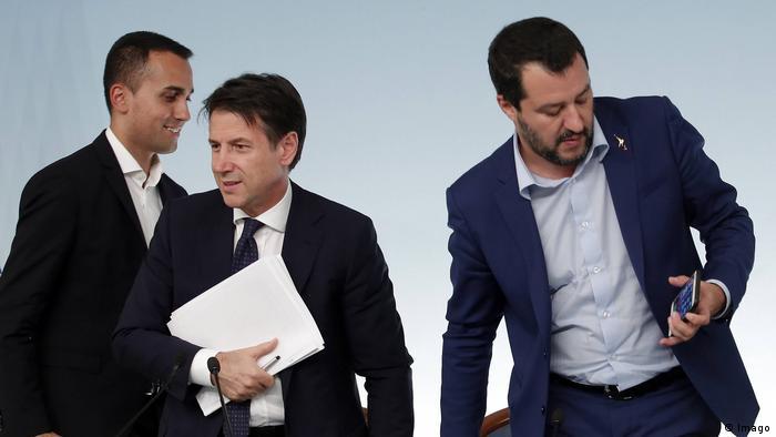 Luigi Di Maio Giuseppe Conte Matteo Salvini