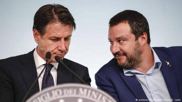 Guiseppe Conte Matteo Salvini (picture-alliance/AP Photo/G. Lami)