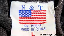 USA Etikett Made in China