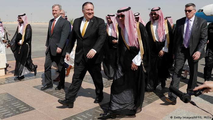 Saudi-Arabien Riad Ankunft US-Außenminister Mike Pompeo (Getty Images/AFP/L. Millis)