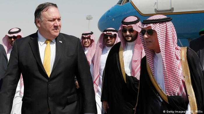 Saudi-Arabien Riad Ankunft US-Außenminister Mike Pompeo