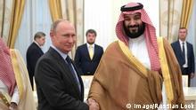 Saudi-Arabien Kronprinz Mohammed bin Salman und Putin