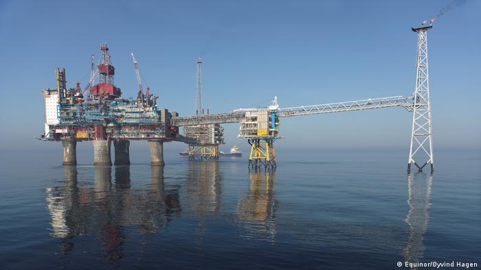 The Sleipner gas platform off the coast of Norway