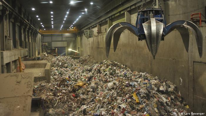 Śmieci w spalarni w Norwegii