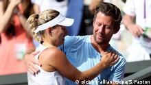 UK Tennis | Angelique Kerber und Wim Fissette (picture-alliance/dpa/S. Paston)