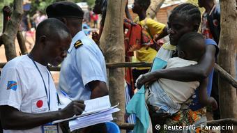 Kongo   Aus Angola abgeschobene illegale Flüchtlinge (Reuters/G. Paravicini)
