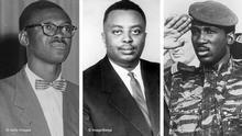 Bildkombo Patrice Lumumba, Louis Rwagasore, Thomas Sankara