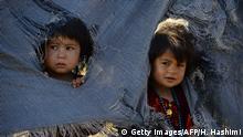 تصویر از آرشیف: کودکان بیجا شده در کمپی در هرات