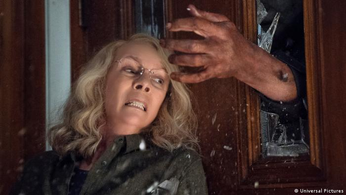 Cena do filme Halloween (2018), com Jamie Lee Curtis (Universal Pictures)