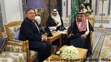 Saudi Arabien Treffen US-Aussenminister Pompeo und dem König Salman