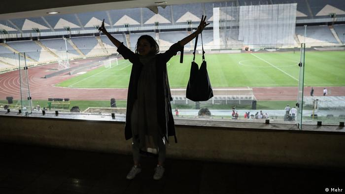 Iran Frauen in Stadion