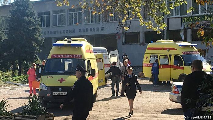 Halbinsel Krim Explosion in einer Schule (imago/ITAR-TASS)