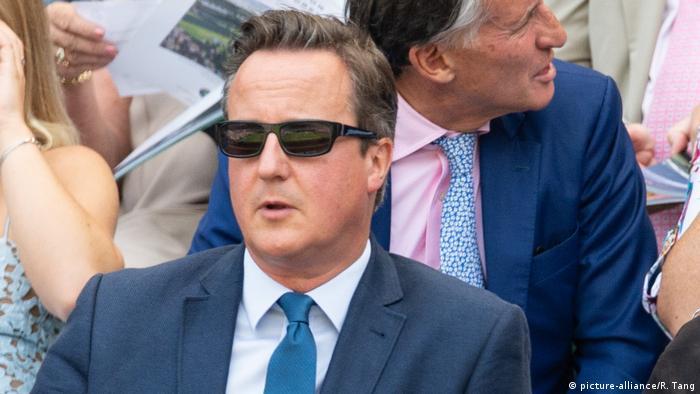 Großbritannien, London: David Cameron besucht Wimbledon Tennis Championships