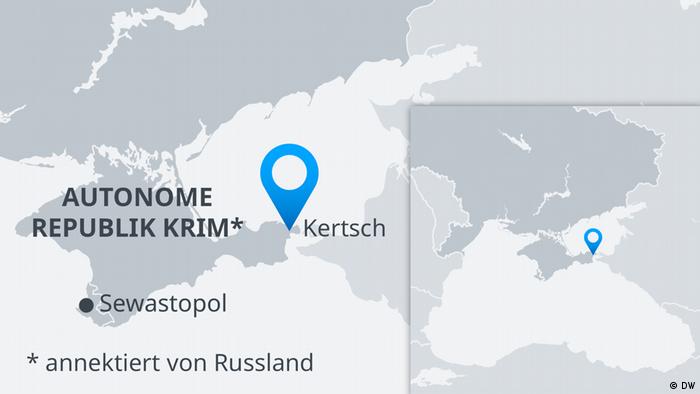 Karte Krim Kertsch Anschlag DE (DW)