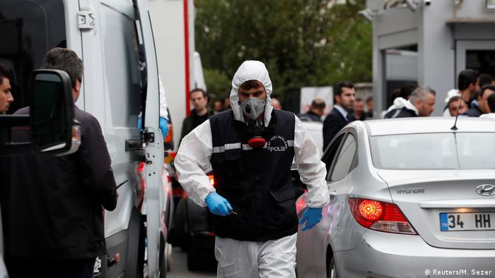 پلیس ترکیه در عملیات بازرسی کنسولگری عربستان سعودی در استانبول، ۱۷ اکتبر