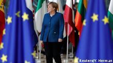 Belgien, Brüssel: Angela Merkel spricht auf dem EU Gipfel