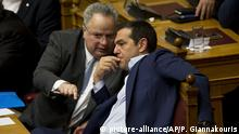 Alexis Tsipras i Nikos Kotzias (picture-alliance/AP/P. Giannakouris)
