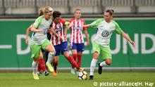 Fussball, UEFA Women Champions League, VfL Wolfsburg - Atletico Madrid (picture-alliance/H. Hay)