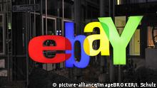 Ebay Logo from the company's headquarters in Berlin (picture-alliance/imageBROKER/I. Schulz)