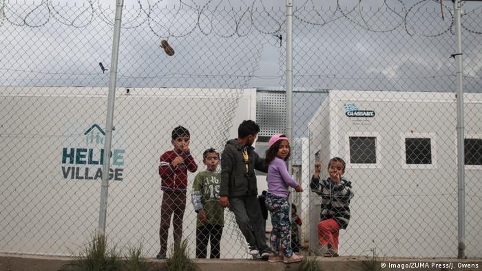 Griechenland Flüchtlingslager Vial Hotspot auf Chios (Imago/ZUMA Press/J. Owens)