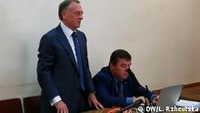Oleksandr Lavrynowych - Ex-Justizminister der Ukraine Oleksandr Lavrynowych gestern im Kiewer Gericht