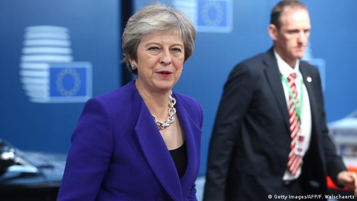 Belgien Brüssel Brexit Treffen | Ankunft Theresa May (Getty Images/AFP/F. Walschaerts)
