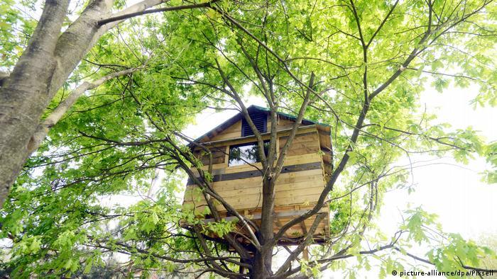 Домик на дереве в городе Вараждин в Хорватии