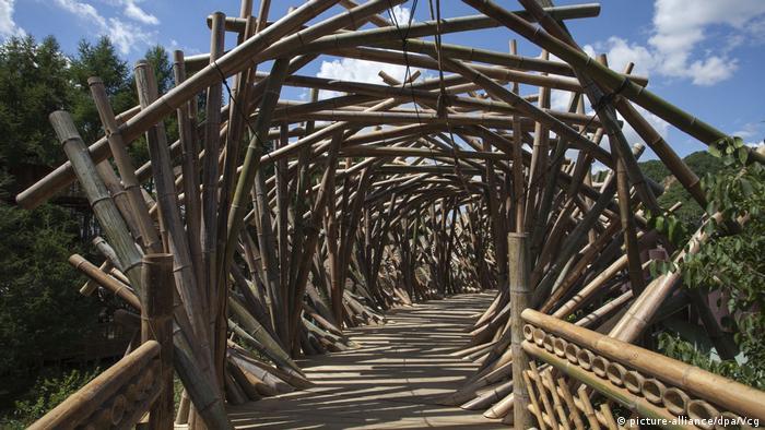 Домик из бамбука в провинции Гирин