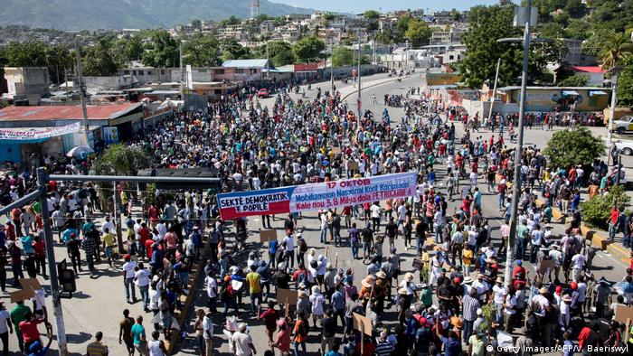 Protest against corruption in Port au Prince