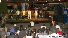 September 2018 Slam-Vorführung in Bujumbura, die Haupstadt Burundis.