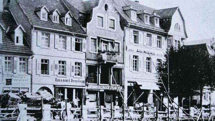 Jewish shops being destroyed