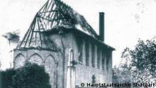 Die am 10. November 1938 von SA-Männern aus der Nachbarstadt angezündete Synagoge im badischen Gernsbach