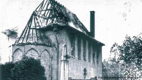 Deutschland   abgebrannte Synagoge in Gernsbach