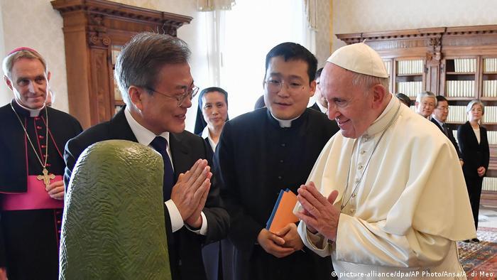 Vatikan   Papst empfängt Südkoreas Präsidenten Moon