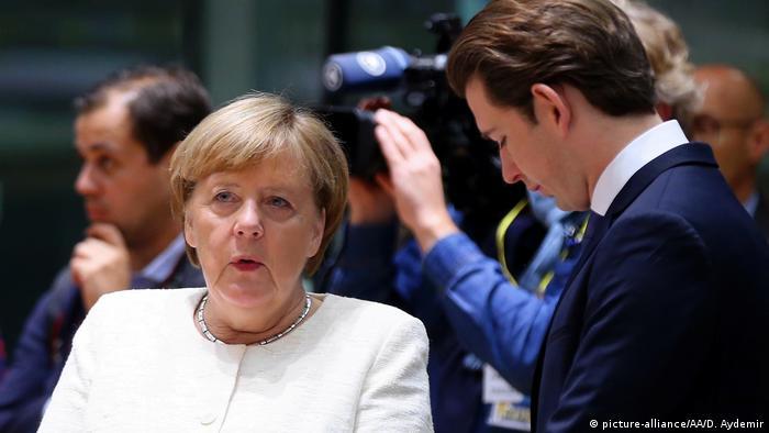 Chancellor Angela Merkel at the EU Summit
