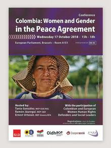 Plakat | Konferenz Women and Gender in Colombia´s Peace Agreement in Brüssel ( )