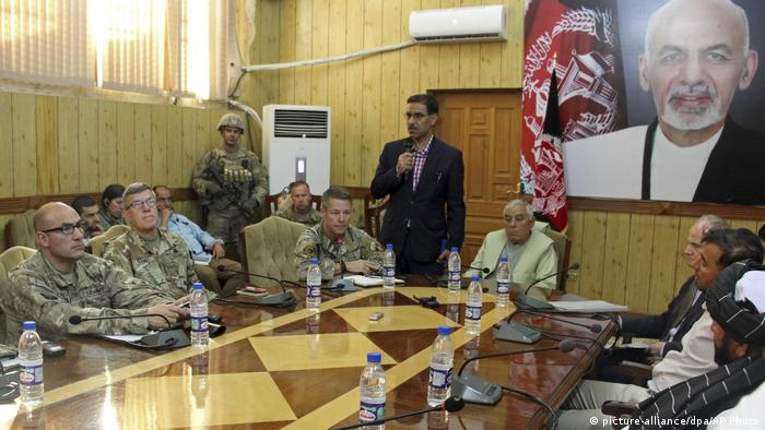A security meeting in Afghanistan