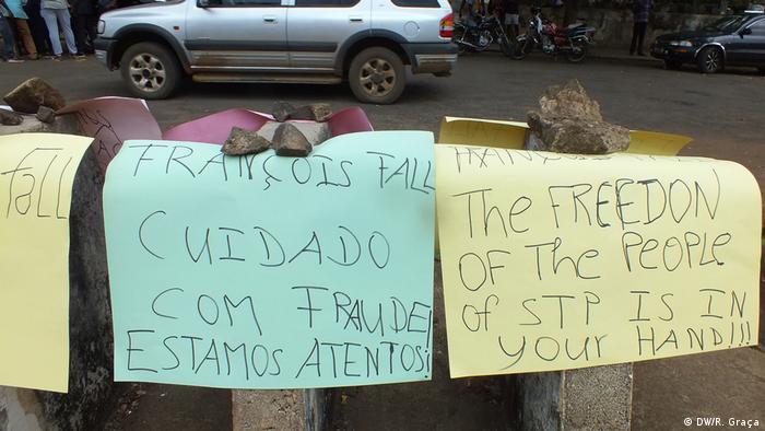 Sao Tome und Principe Demonstrationen