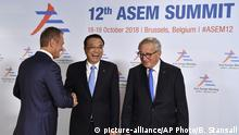 Belgien ASEM Treffen in Brüssel Donald Tusk, Li Keqiang und Claude Juncker (picture-alliance/AP Photo/B. Stansall)