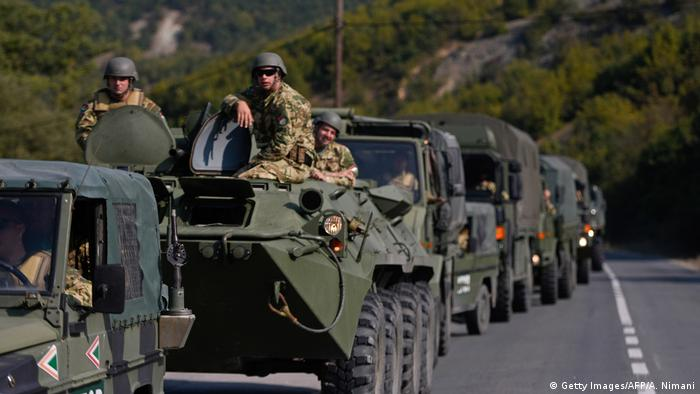 KFOR troops serving in a peacekeeping mission in Kosovo (Getty Images/AFP/A. Nimani)