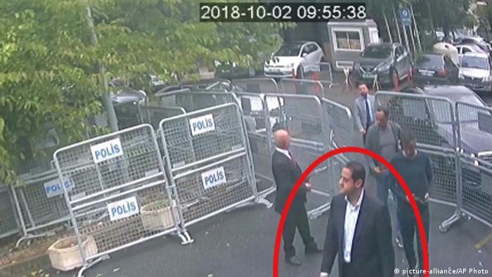 Türkei Verdächtiger im Fall Khashoggi von Überwachungskamera erfasst (picture-alliance/AP Photo)