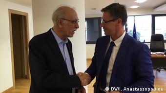 Ο γερμανός βουλευτής Χρήστος Κατζίδης με τον υπουργό Μεταναστευτικής Πολιτικής Δημήτρη Βίτσα